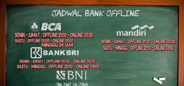 daftar jam bank deposit judi online